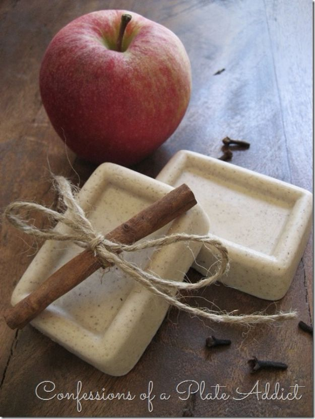 Soap Recipes DIY - Five Minute Spiced Apple Goats Milk Soap - DIY Soap Recipe Ideas - Best Soap Tutorials for Soap Making Without Lye - Easy Cold Process Melt and Pour Tips for Beginners - Crockpot, Essential Oils, Homemade Natural Soaps and Products - Creative Crafts and DIY for Teens, Kids and Adults #soaprecipes #diygifts #soapmaking