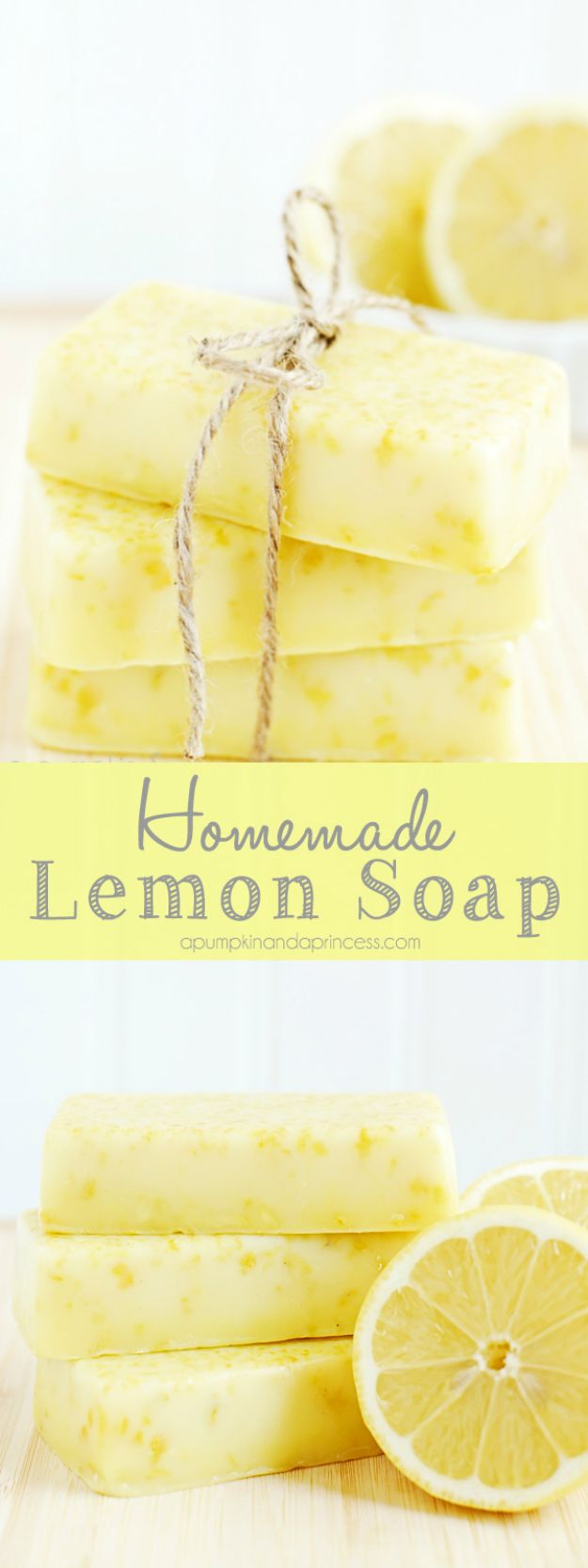 Soap Recipes DIY - Homemade Lemon Soap - DIY Soap Recipe Ideas - Best Soap Tutorials for Soap Making Without Lye - Easy Cold Process Melt and Pour Tips for Beginners - Crockpot, Essential Oils, Homemade Natural Soaps and Products - Creative Crafts and DIY for Teens, Kids and Adults #soaprecipes #diygifts #soapmaking