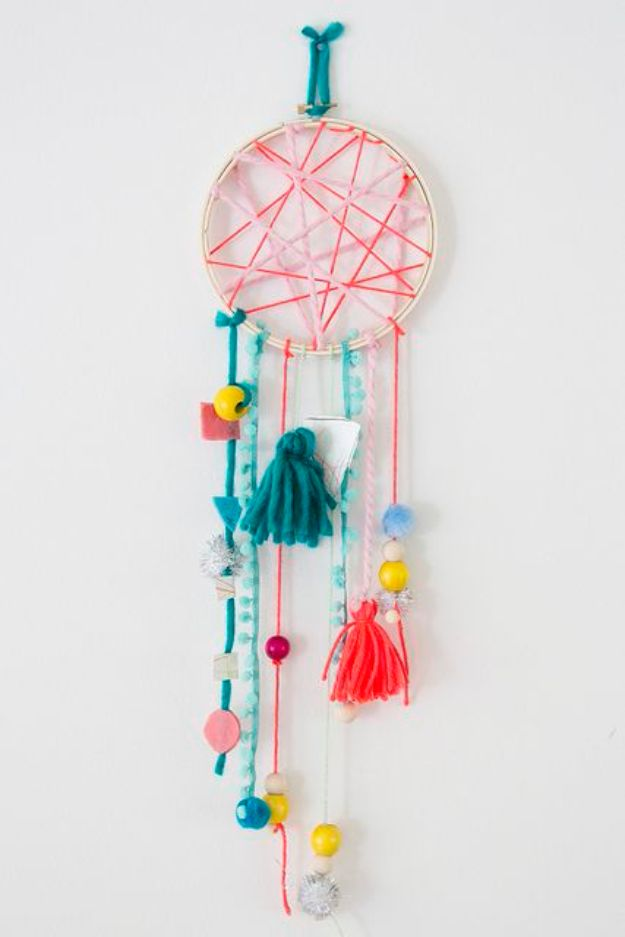 DIY Dream Catchers - Kid-Friendly Dreamcatcher - How to Make a Dreamcatcher Step by Step Tutorial - Easy Ideas for Dream Catcher for Kids Room - Make a Mobile, Moon Designs, Pattern Ideas, Boho Dreamcatcher With Sticks, Cool Wall Hangings for Teen Rooms - Cheap Home Decor Ideas on A Budget #diyideas #teencrafts #dreamcatchers