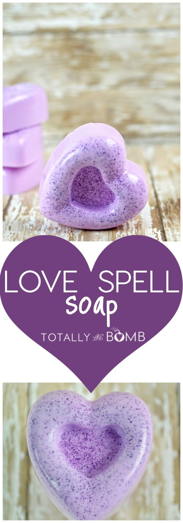 Soap Recipes DIY - Love Spell Soap - DIY Soap Recipe Ideas - Best Soap Tutorials for Soap Making Without Lye - Easy Cold Process Melt and Pour Tips for Beginners - Crockpot, Essential Oils, Homemade Natural Soaps and Products - Creative Crafts and DIY for Teens, Kids and Adults #soaprecipes #diygifts #soapmaking