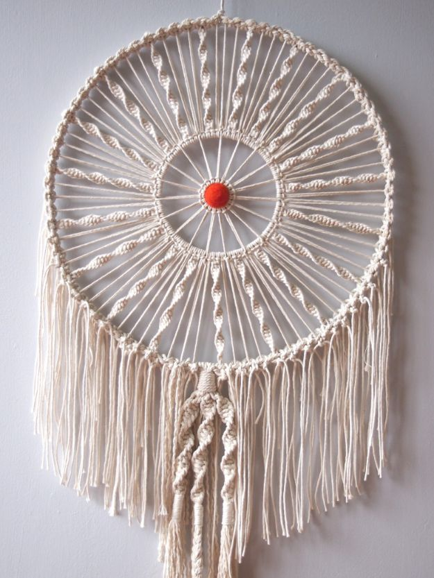 DIY Dream Catchers - Macrame Dreamer - How to Make a Dreamcatcher Step by Step Tutorial - Easy Ideas for Dream Catcher for Kids Room - Make a Mobile, Moon Designs, Pattern Ideas, Boho Dreamcatcher With Sticks, Cool Wall Hangings for Teen Rooms - Cheap Home Decor Ideas on A Budget http://diyprojectsforteens.com/diy-dreamcatchers