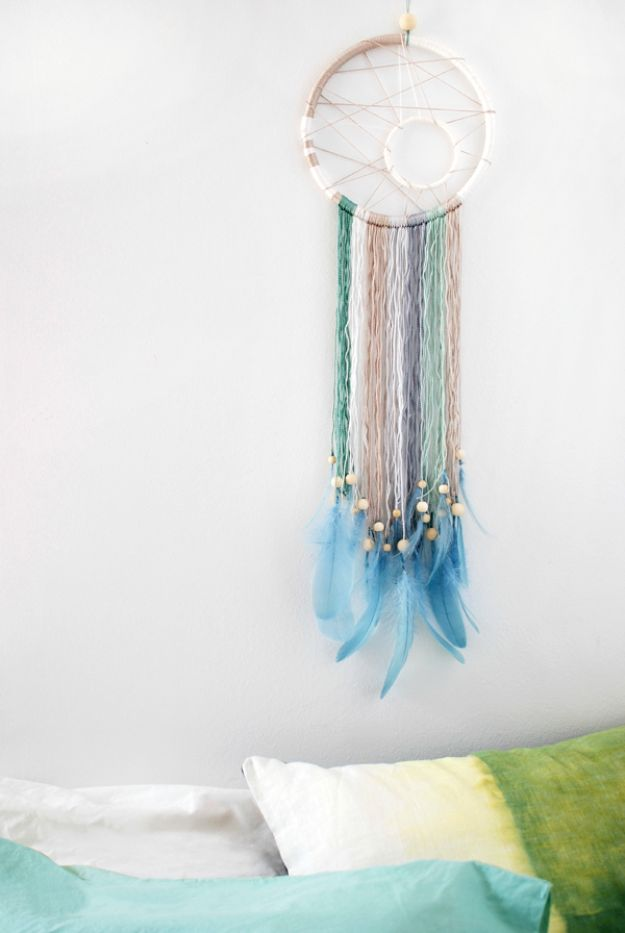 DIY Dream Catchers - Make a Modern Dreamcatcher - How to Make a Dreamcatcher Step by Step Tutorial - Easy Ideas for Dream Catcher for Kids Room - Make a Mobile, Moon Designs, Pattern Ideas, Boho Dreamcatcher With Sticks, Cool Wall Hangings for Teen Rooms - Cheap Home Decor Ideas on A Budget #diyideas #teencrafts #dreamcatchers