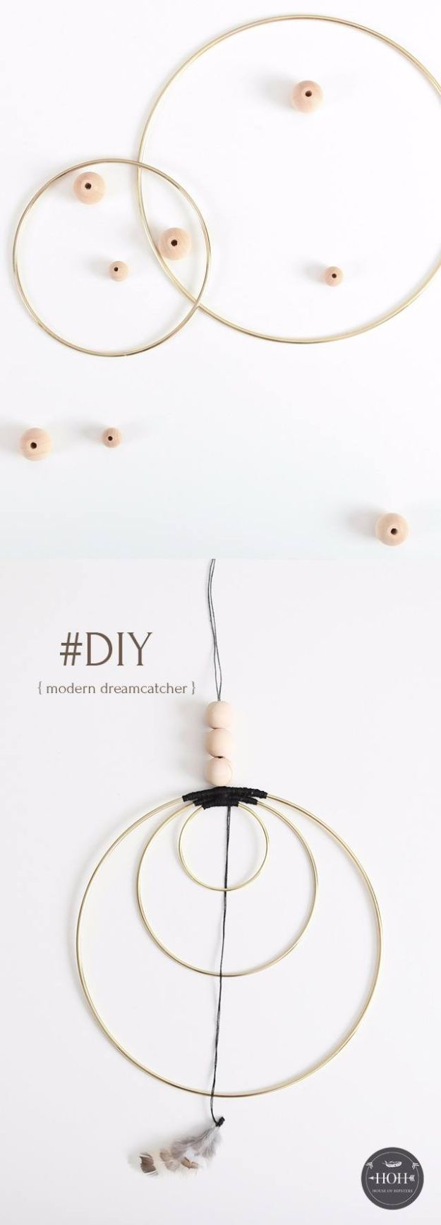 DIY Dream Catchers - Minimalist Dreamcatcher - How to Make a Dreamcatcher Step by Step Tutorial - Easy Ideas for Dream Catcher for Kids Room - Make a Mobile, Moon Designs, Pattern Ideas, Boho Dreamcatcher With Sticks, Cool Wall Hangings for Teen Rooms - Cheap Home Decor Ideas on A Budget #diyideas #teencrafts #dreamcatchers