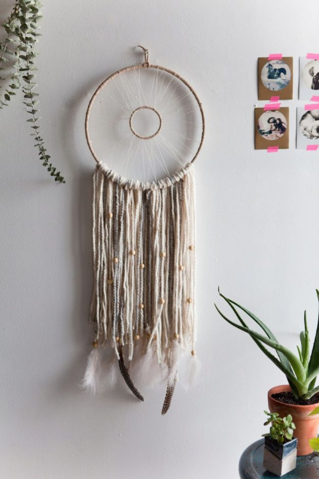 DIY Dream Catchers - Modern Woven Dreamcatcher - How to Make a Dreamcatcher Step by Step Tutorial - Easy Ideas for Dream Catcher for Kids Room - Make a Mobile, Moon Designs, Pattern Ideas, Boho Dreamcatcher With Sticks, Cool Wall Hangings for Teen Rooms - Cheap Home Decor Ideas on A Budget #diyideas #teencrafts #dreamcatchers