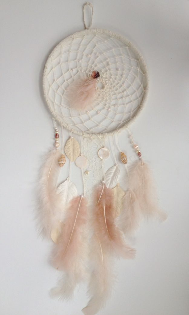 DIY Dream Catchers - Pink Feathery Dreamcatcher - How to Make a Dreamcatcher Step by Step Tutorial - Easy Ideas for Dream Catcher for Kids Room - Make a Mobile, Moon Designs, Pattern Ideas, Boho Dreamcatcher With Sticks, Cool Wall Hangings for Teen Rooms - Cheap Home Decor Ideas on A Budget #diyideas #teencrafts #dreamcatchers