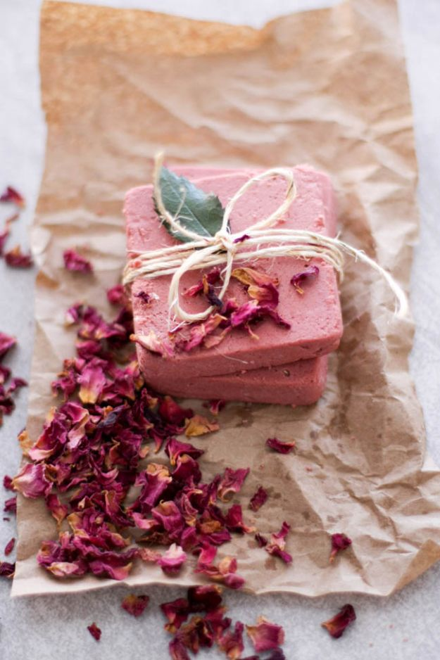 Soap Recipes DIY - Rosewater Pink Clay Soap - DIY Soap Recipe Ideas - Best Soap Tutorials for Soap Making Without Lye - Easy Cold Process Melt and Pour Tips for Beginners - Crockpot, Essential Oils, Homemade Natural Soaps and Products - Creative Crafts and DIY for Teens, Kids and Adults http://diyprojectsforteens.com/cool-soap-recipes
