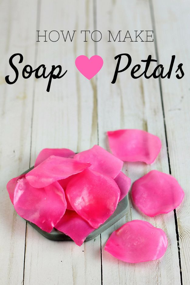 Soap Recipes DIY - Soap Petals - DIY Soap Recipe Ideas - Best Soap Tutorials for Soap Making Without Lye - Easy Cold Process Melt and Pour Tips for Beginners - Crockpot, Essential Oils, Homemade Natural Soaps and Products - Creative Crafts and DIY for Teens, Kids and Adults #soaprecipes #diygifts #soapmaking