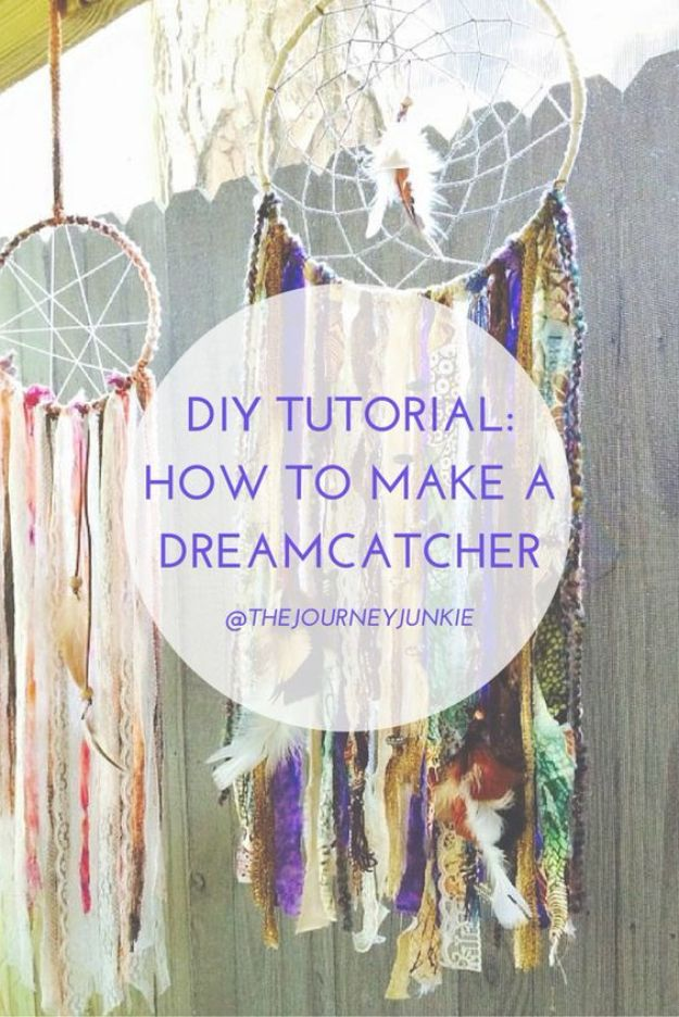 DIY Dream Catchers - Super Cool Dreamcatcher - How to Make a Dreamcatcher Step by Step Tutorial - Easy Ideas for Dream Catcher for Kids Room - Make a Mobile, Moon Designs, Pattern Ideas, Boho Dreamcatcher With Sticks, Cool Wall Hangings for Teen Rooms - Cheap Home Decor Ideas on A Budget http://diyprojectsforteens.com/diy-dreamcatchers