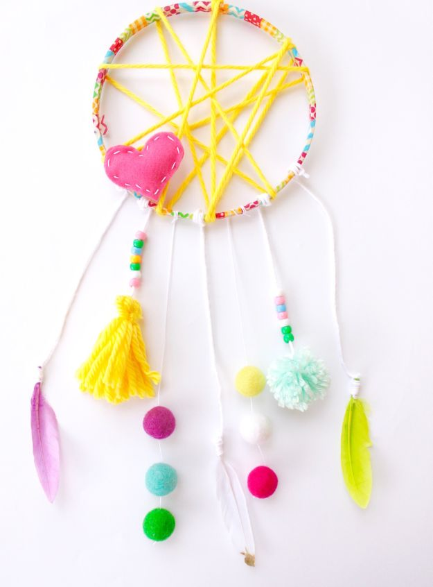DIY Dream Catchers - Yarn Dreamcatcher - How to Make a Dreamcatcher Step by Step Tutorial - Easy Ideas for Dream Catcher for Kids Room - Make a Mobile, Moon Designs, Pattern Ideas, Boho Dreamcatcher With Sticks, Cool Wall Hangings for Teen Rooms - Cheap Home Decor Ideas on A Budget #diyideas #teencrafts #dreamcatchers