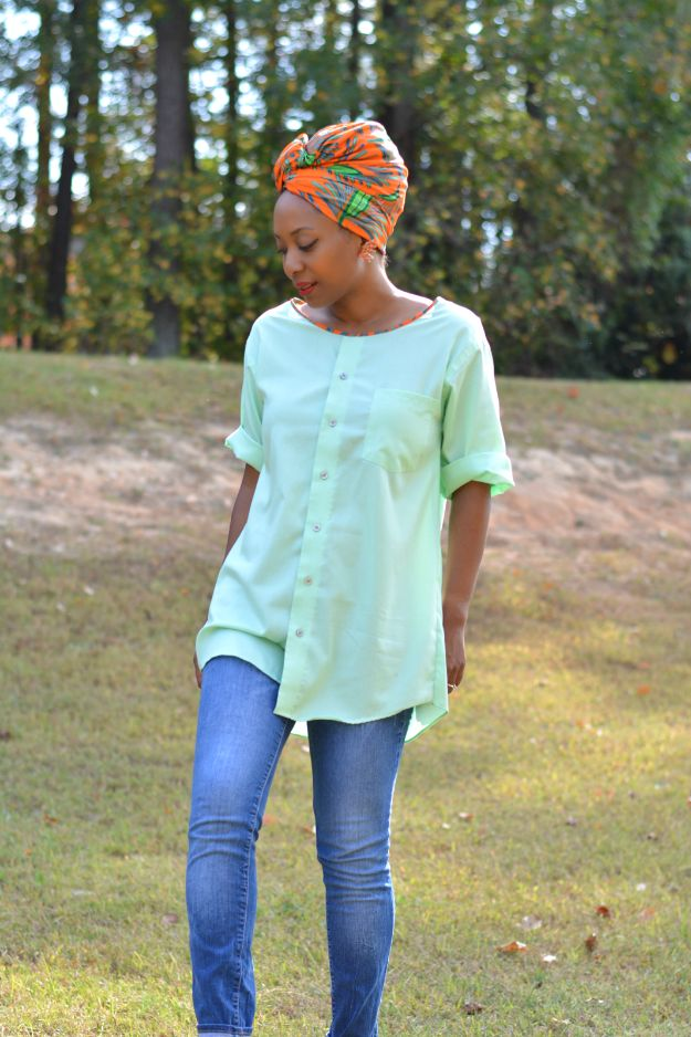 DIY Ideas With Old T-shirts - Men's Shirt To Tunic Top - Tshirt Makeovers and Transformation Ideas for Tee Shirts - DIY Clothes to Make On A Budgert - Creative and Easy Fashion Ideas for Teen Girls, Teenagers, Adults - Cut and Refashion Your Shirts With These Step by Step Tutorials http://diyprojectsforteens.com/diy-ideas-old-t-shirts