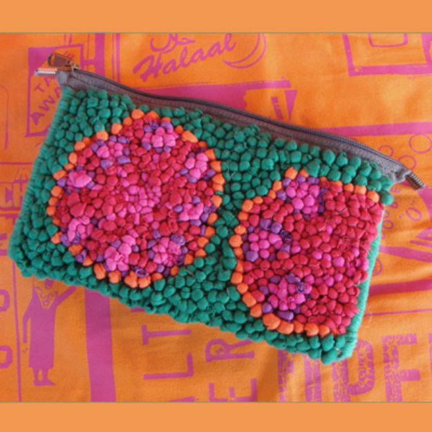 DIY Ideas With Old T-shirts - Multi Colored Pouch - Tshirt Makeovers and Transformation Ideas for Tee Shirts - DIY Clothes to Make On A Budgert - Creative and Easy Fashion Ideas for Teen Girls, Teenagers, Adults - Cut and Refashion Your Shirts With These Step by Step Tutorials http://diyprojectsforteens.com/diy-ideas-old-t-shirts