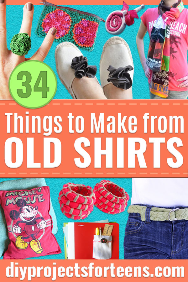 34 Things to Make From Old T-shirts