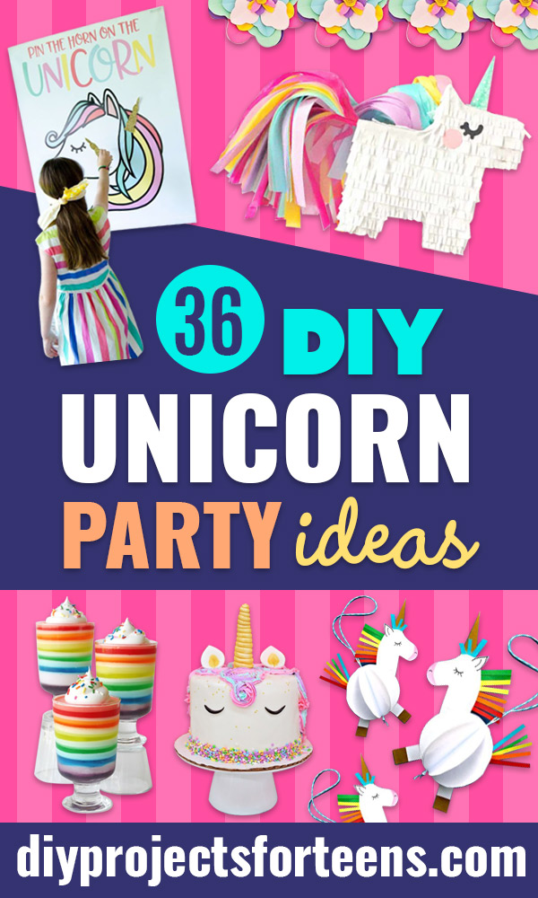 DIY Unicorn Party Ideas - Throw A Unicorn Themed Party With These Cheap and Easy but Super Creative Projects - Unicorns Decorations for Parties With Rainbow, Glitter and Fun Colors - Banners, Signs, Cakes and Tabletop Decor for the Best Birthday Party Ever - Girls, Teens and Kids Love These Fun Crafts #birthdayparty #partyideas #unicorn #kidparty