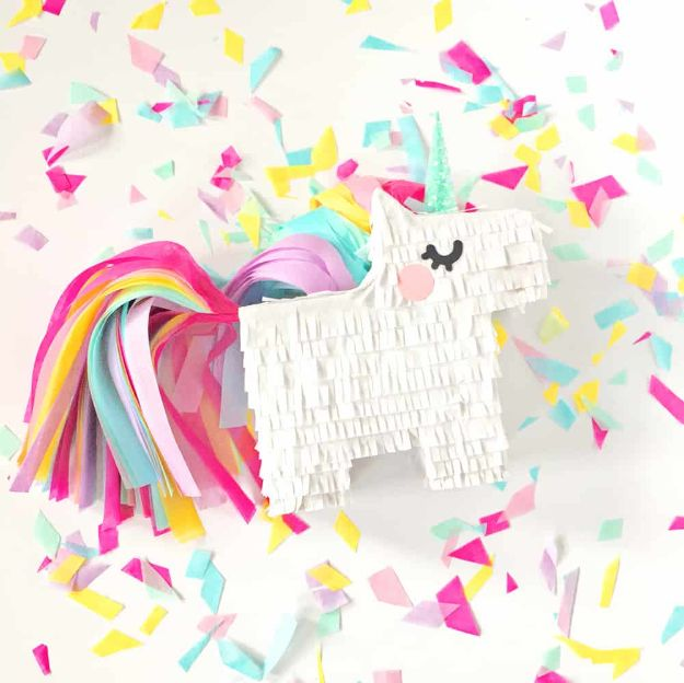 DIY Unicorn Party Ideas - DIY Mini Unicorn Pinata - Throw A Unicorn Themed Party With These Cheap and Easy but Super Creative Projects - Unicorns Decorations for Parties With Rainbow, Glitter and Fun Colors - Banners, Signs, Cakes and Tabletop Decor for the Best Birthday Party Ever - Girls, Teens and Kids Love These Fun Crafts #birthdayparty #partyideas #unicorn #kidparty