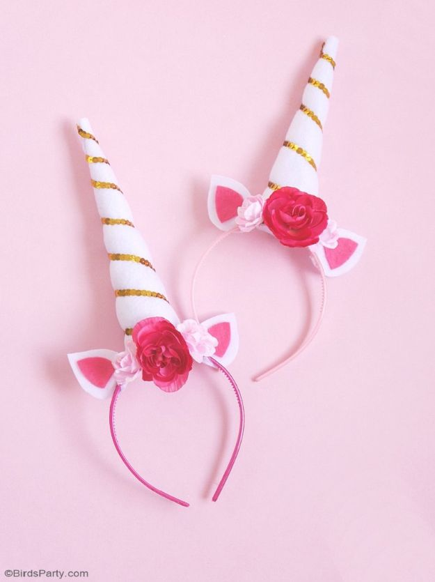 DIY Unicorn Party Ideas - DIY Unicorn Party Headbands - Throw A Unicorn Themed Party With These Cheap and Easy but Super Creative Projects - Unicorns Decorations for Parties With Rainbow, Glitter and Fun Colors - Banners, Signs, Cakes and Tabletop Decor for the Best Birthday Party Ever - Girls, Teens and Kids Love These Fun Crafts #birthdayparty #partyideas #unicorn #kidparty