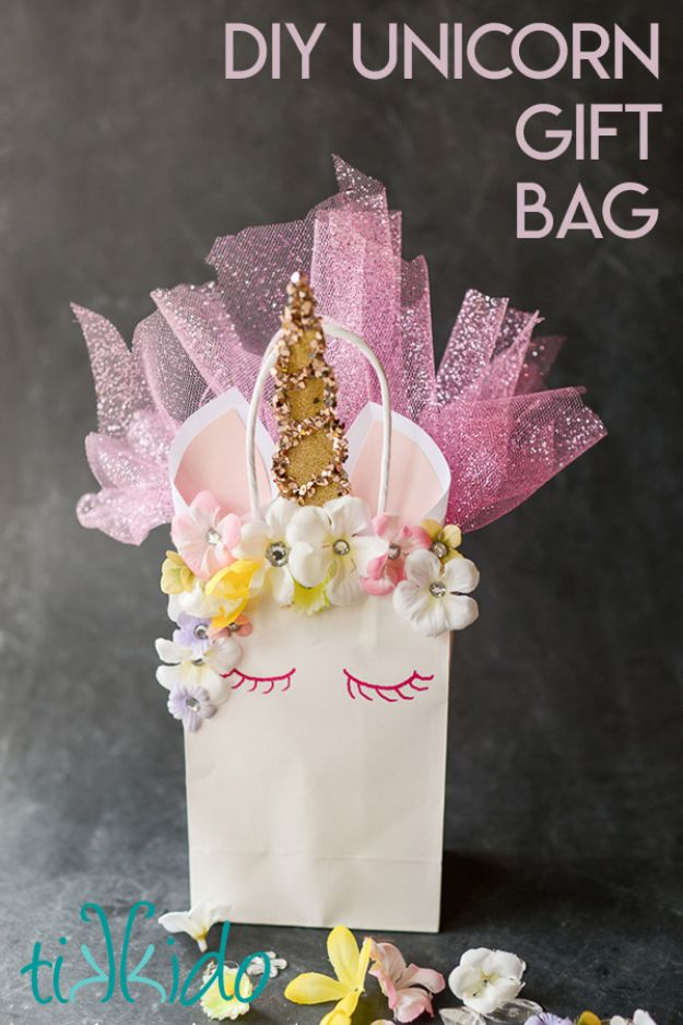 DIY Unicorn Party Ideas - Unicorn Gift Bag - Throw A Unicorn Themed Party With These Cheap and Easy but Super Creative Projects - Unicorns Decorations for Parties With Rainbow, Glitter and Fun Colors - Banners, Signs, Cakes and Tabletop Decor for the Best Birthday Party Ever - Girls, Teens and Kids Love These Fun Crafts #birthdayparty #partyideas #unicorn #kidparty