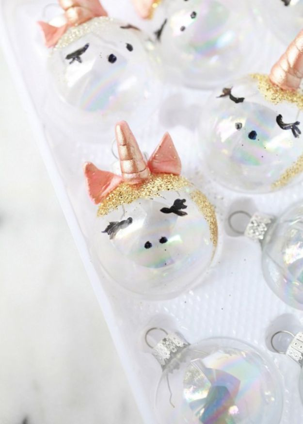 DIY Unicorn Party Ideas - Unicorn Ornaments - Throw A Unicorn Themed Party With These Cheap and Easy but Super Creative Projects - Unicorns Decorations for Parties With Rainbow, Glitter and Fun Colors - Banners, Signs, Cakes and Tabletop Decor for the Best Birthday Party Ever - Girls, Teens and Kids Love These Fun Crafts #birthdayparty #partyideas #unicorn #kidparty