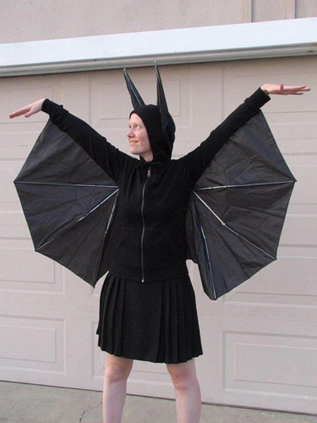 Teen Costume Ideas - Bat Costume - Easy Costumes for Halloween - Cheap DIY Costumes for Teens - Scary, Spooky, Ideas for Couples, Groups and Friends - Quick Last Minute Hallloween Costumes, Best Celebrity Ideas - Dolls, Zombies, Ghosts, Makeup Tutorials Teenagers Dress Up Idea- http://diyprojectsforteens.com/diy-teen-costume-deas