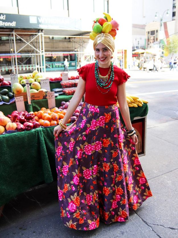 Teen Costume Ideas - DIY Carmen Miranda Costume - Easy Costumes for Halloween - Cheap DIY Costumes for Teens - Scary, Spooky, Ideas for Couples, Groups and Friends - Quick Last Minute Hallloween Costumes, Best Celebrity Ideas - Dolls, Zombies, Ghosts, Makeup Tutorials Teenagers Dress Up Idea- http://diyprojectsforteens.com/diy-teen-costume-deas