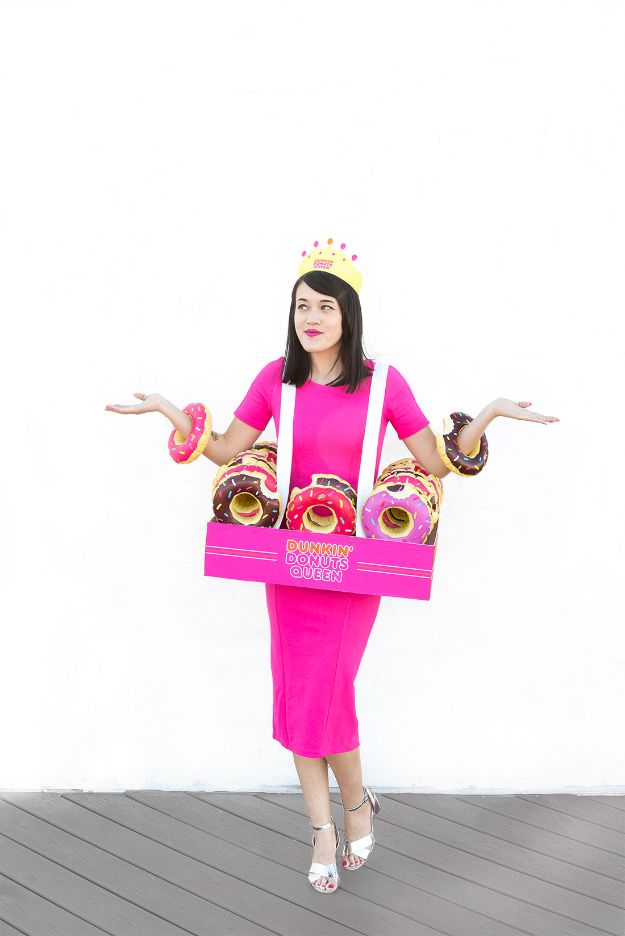 Teen Costume Ideas - DIY Donut Queen Halloween Costume - Easy Costumes for Halloween - Cheap DIY Costumes for Teens - Scary, Spooky, Ideas for Couples, Groups and Friends - Quick Last Minute Hallloween Costumes, Best Celebrity Ideas - Dolls, Zombies, Ghosts, Makeup Tutorials Teenagers Dress Up Idea-
