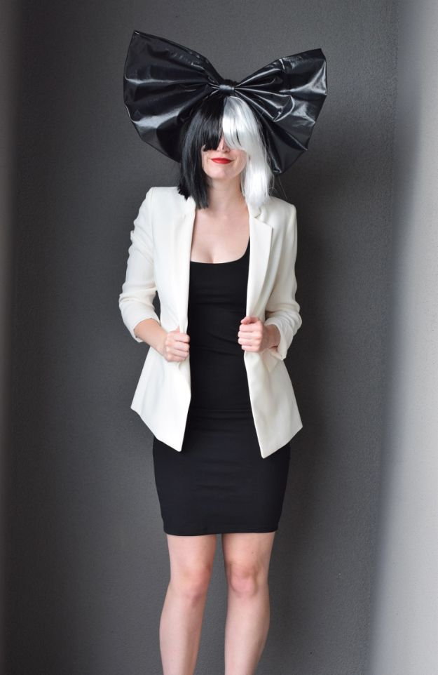 Teen Costume Ideas - DIY Sia Costume - Easy Costumes for Halloween - Cheap DIY Costumes for Teens - Scary, Spooky, Ideas for Couples, Groups and Friends - Quick Last Minute Hallloween Costumes, Best Celebrity Ideas - Dolls, Zombies, Ghosts, Makeup Tutorials Teenagers Dress Up Idea- http://diyprojectsforteens.com/diy-teen-costume-deas
