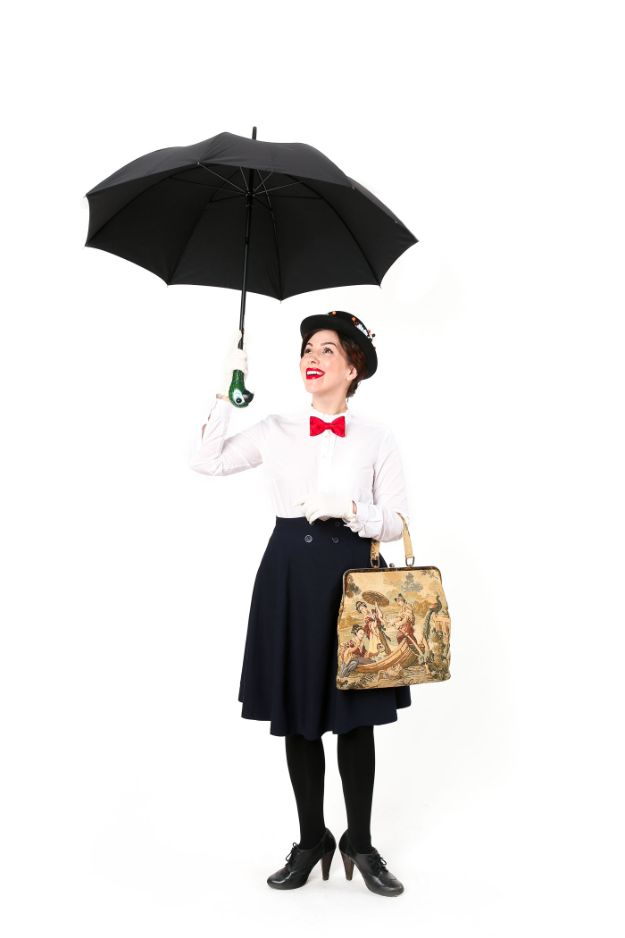 Teen Costume Ideas - Mary Poppins Costume - Easy Costumes for Halloween - Cheap DIY Costumes for Teens - Scary, Spooky, Ideas for Couples, Groups and Friends - Quick Last Minute Hallloween Costumes, Best Celebrity Ideas - Dolls, Zombies, Ghosts, Makeup Tutorials Teenagers Dress Up Idea-