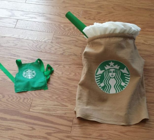 Teen Costume Ideas - Starbucks Halloween Costume - Easy Costumes for Halloween - Cheap DIY Costumes for Teens - Scary, Spooky, Ideas for Couples, Groups and Friends - Quick Last Minute Hallloween Costumes, Best Celebrity Ideas - Dolls, Zombies, Ghosts, Makeup Tutorials Teenagers Dress Up Idea- http://diyprojectsforteens.com/diy-teen-costume-deas
