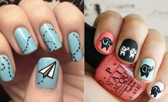 DIY Nail Art Ideas - Easy Step by Step Design Idea for Nails - How to Make Manicures at Home Simple - Paint and Polish Tips #nailart #naildesigns https://diyjoy.com/diy-nail-art-ideas-instagram