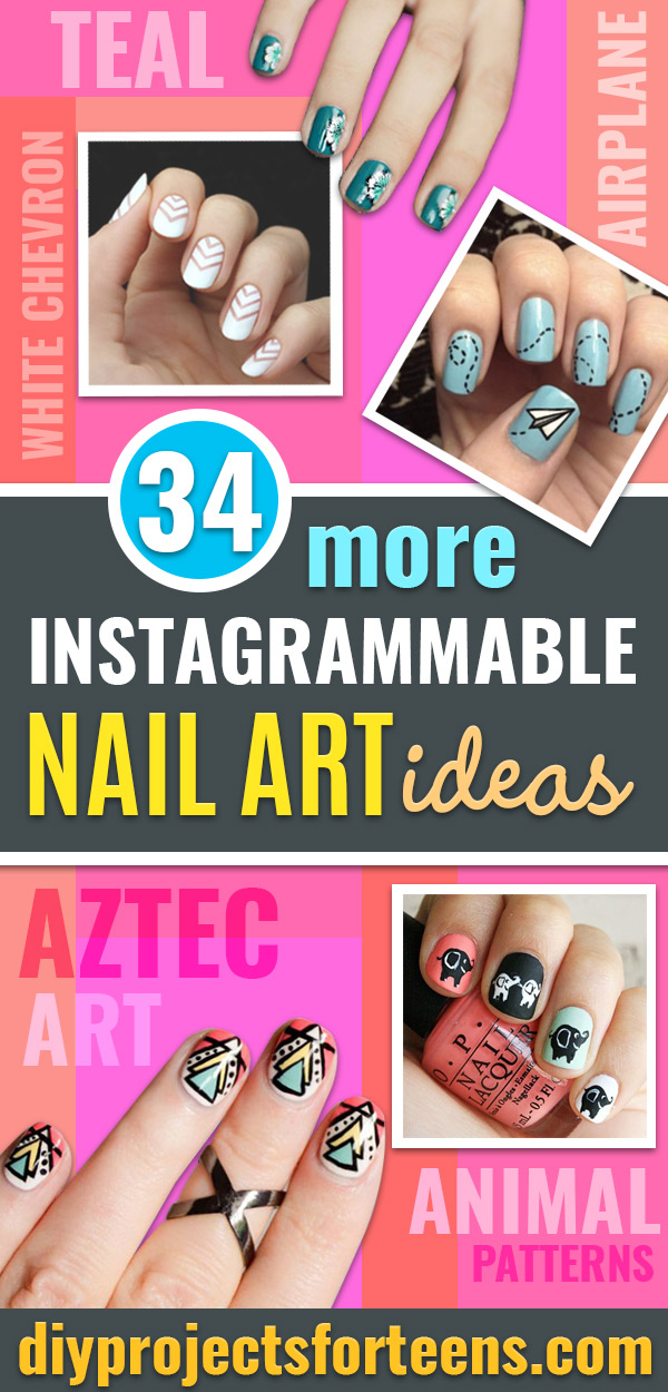 DIY Nail Art Ideas With Tutorial and Instructions for Painting Fingernails and Toes - Easy Step by Step Design Idea for Nails - How to Make Manicures at Home Simple - Paint and Polish Tips #nailart #naildesigns #diynails #diybeauty #naildesigns #teencrafts