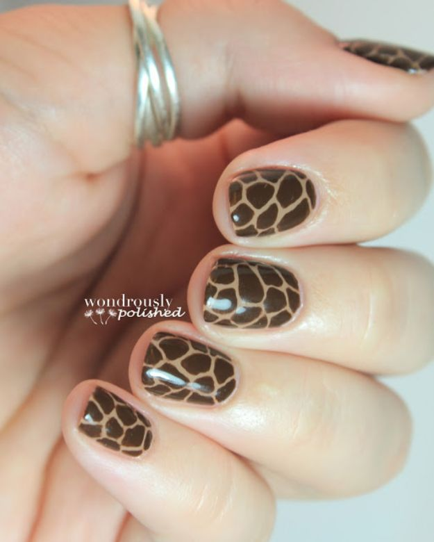DIY Nail Art Ideas - Animal Print Nail Art Cheetah Design Tutorial- Easy Step by Step Design Idea for Nails - How to Make Manicures at Home Simple - Paint and Polish Tips #nailart #naildesigns #nailart #diynails #diybeauty #naildesigns #teencrafts