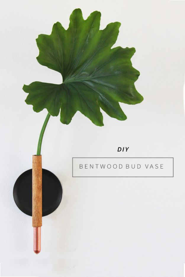 Cheap Wall Decor Ideas - DIY Bud Vase - Cute and Easy Room Decor for Teens - Ideas for Teenager Bedroom Walls - Boys and Girls Room Canvas Wall Art and Decorating #teen #roomdecor #diydecor