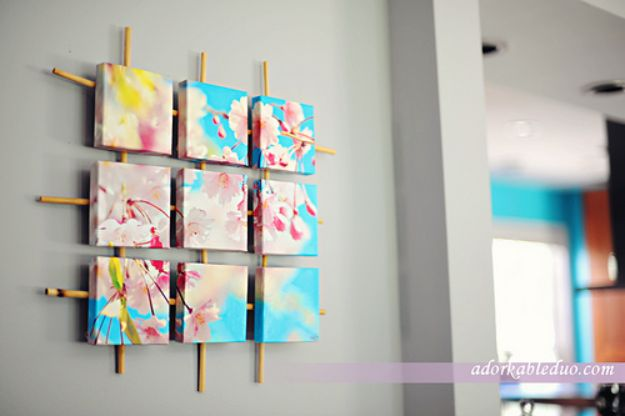 Cheap Wall Decor Ideas - DIY Sectioned Canvas Wall Art - Cute and Easy Room Decor for Teens - Ideas for Teenager Bedroom Walls - Boys and Girls Room Canvas Wall Art and Decorating #teen #roomdecor #diydecor