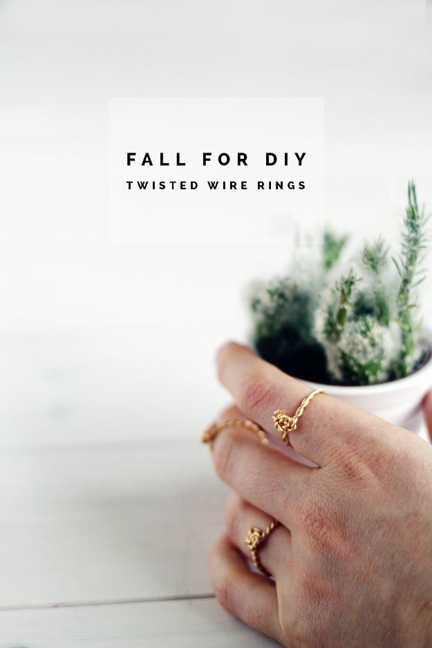 DIY Rings - DIY Twist & Knot Wire Rings - Easy Ring Tutorial for Wore, Paperclip, Stone Jewelry, Wood, Metal, Boho Ideas - Cheap Jewelry Making Ideas #diyjewelry #rings