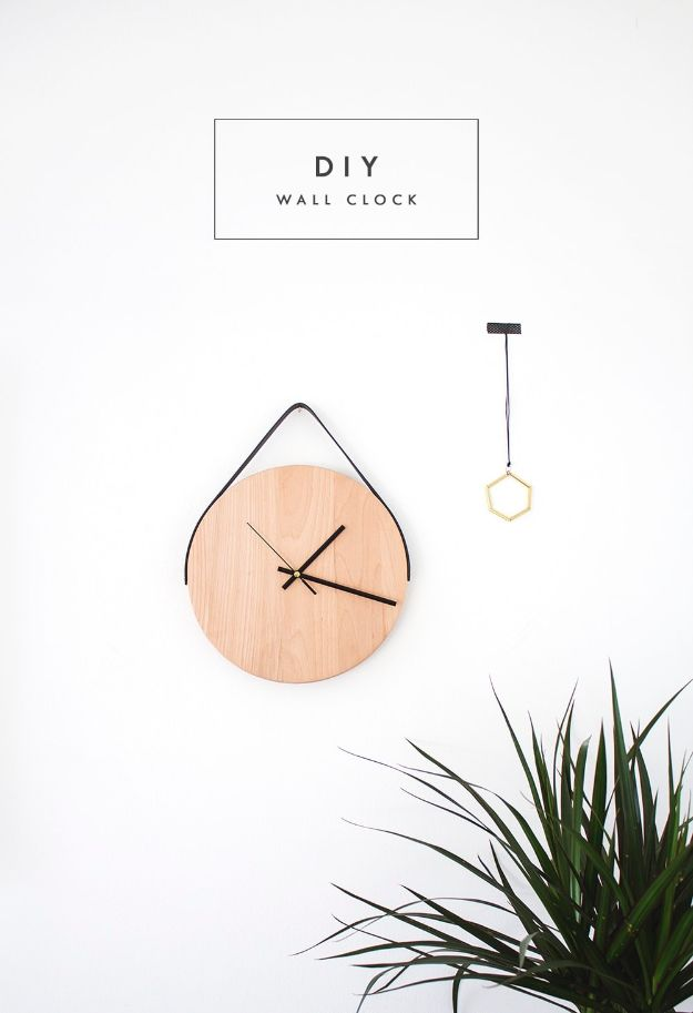 Cheap Wall Decor Ideas - DIY Wall Clock Tutorial - Cute and Easy Room Decor for Teens - Ideas for Teenager Bedroom Walls - Boys and Girls Room Canvas Wall Art and Decorating #teen #roomdecor #diydecor