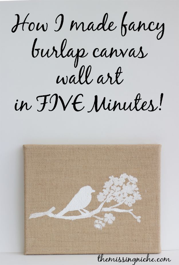 Cheap Wall Decor Ideas - Fancy Burlap Canvas Wall Art In Five Minutes - Cute and Easy Room Decor for Teens - Ideas for Teenager Bedroom Walls - Boys and Girls Room Canvas Wall Art and Decorating #teen #roomdecor #diydecor