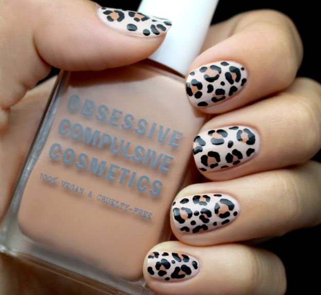 DIY Nail Art Ideas - Leopard Print Nail Art - Easy Step by Step Design Idea for Nails - How to Make Manicures at Home Simple - Paint and Polish Tips #nailart #naildesigns #nailart #diynails #diybeauty #naildesigns #teencrafts