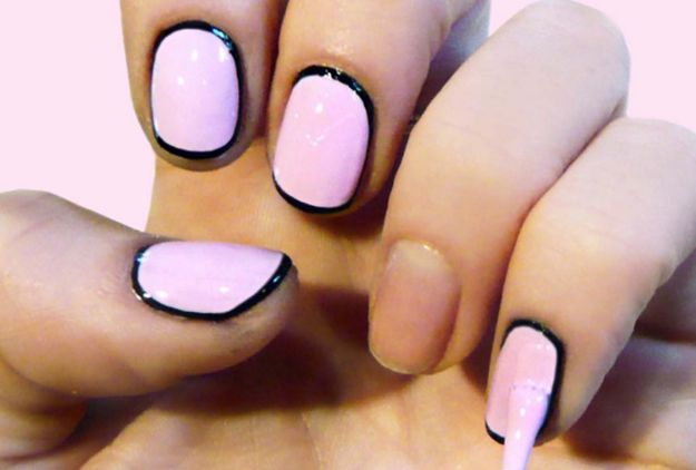 DIY Nail Art Ideas - Retro-Glamorous Nail Art - Easy Step by Step Design Idea for Nails - How to Make Manicures at Home Simple - Paint and Polish Tips #nailart #naildesigns #nailart #diynails #diybeauty #naildesigns #teencrafts