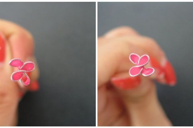DIY Rings - Stained Glass Flower Ring - Easy Ring Tutorial for Wore, Paperclip, Stone Jewelry, Wood, Metal, Boho Ideas - Cheap Jewelry Making Ideas #diyjewelry #rings