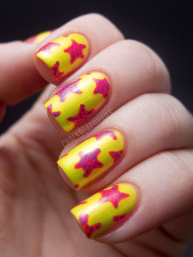 DIY Nail Art Ideas - Starfish Manicure - Easy Step by Step Design Idea for Nails - How to Make Manicures at Home Simple - Paint and Polish Tips #nailart #naildesigns #nailart #diynails #diybeauty #naildesigns #teencrafts