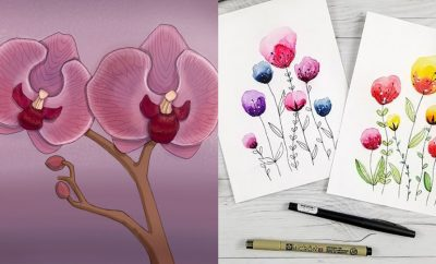 Flower Drawing Tutorials - Simple Tutorial for Easy Flower Doodles, Vintage Design Ideas for Flowers, Step by Step Pencil Drawings - How to Draw a Rose, Lily, Hibiscus, Daisy