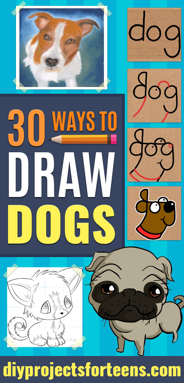 How to Draw Dogs - Easy Step by Step Drawing Tutorial - Learn How To Draw A Dog and Cute Puppies - Cartoon and Realistic Animals