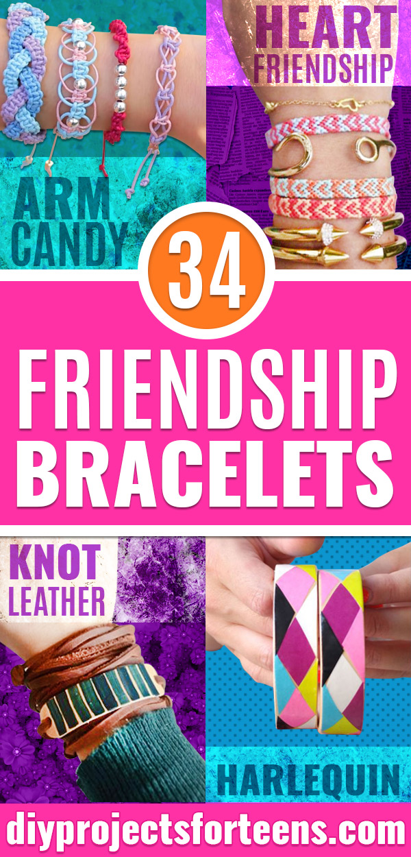 DIY Friendship Bracelets - How to Make A Friendship Bracelet Tutorial - Instructions for Woven, Beaded, Leather and String - Cheap Embroidery Thread Ideas - DIY gifts for Teens, Tweens, Kids and Friends