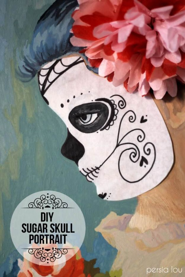 100 How To Draw Tutorials - DIY Sugar Skull Portrait - Eyes, Hair, Face, Lips, People, Animals, Hands - Step by Step Drawing Tutorial for Beginners - Free Easy Lessons