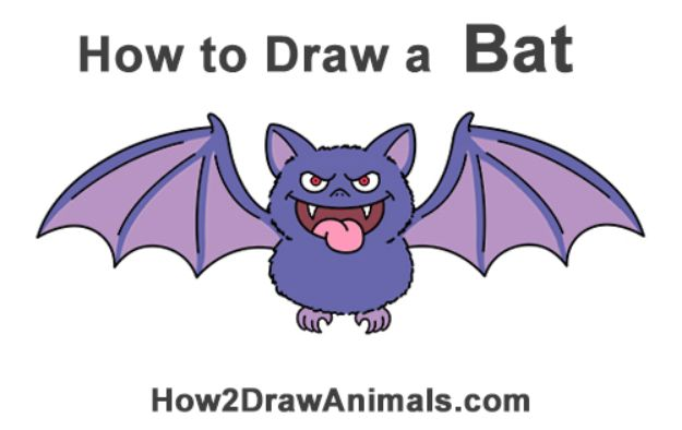100 How To Draw Tutorials - Draw A Bat - Eyes, Hair, Face, Lips, People, Animals, Hands - Step by Step Drawing Tutorial for Beginners - Free Easy Lessons