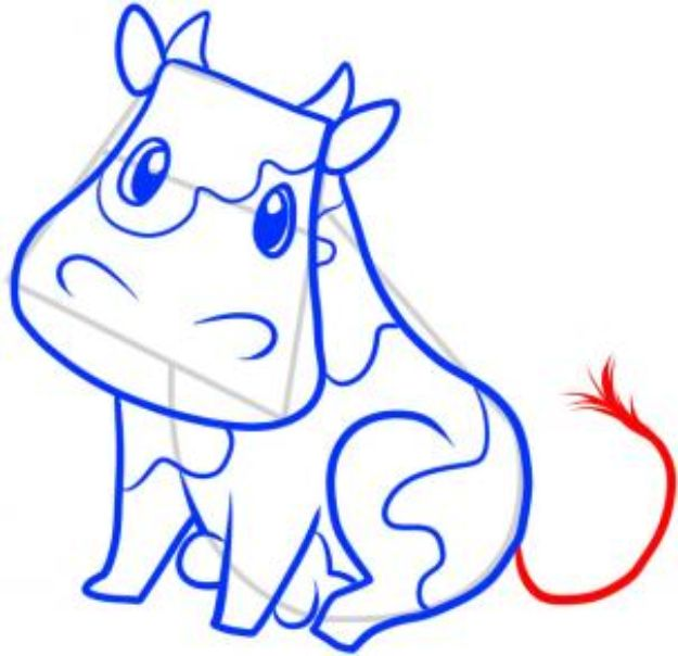 100 How To Draw Tutorials - Draw A Cow – Step by Step- Eyes, Hair, Face, Lips, People, Animals, Hands - Step by Step Drawing Tutorial for Beginners - Free Easy Lessons