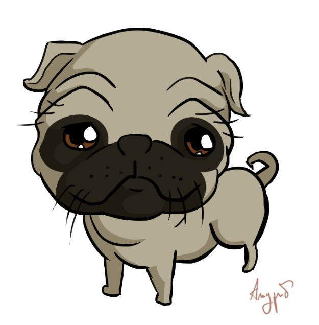 How to Draw Dogs - Draw A Cute Pug - Easy Step by Step Drawing Tutorial - Learn How To Draw A Dog and Cute Puppies - Cartoon and Realistic Animals