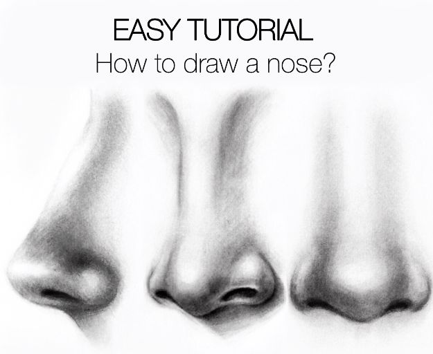 100 How To Draw Tutorials - Draw A Nose - Eyes, Hair, Face, Lips, People, Animals, Hands - Step by Step Drawing Tutorial for Beginners - Free Easy Lessons