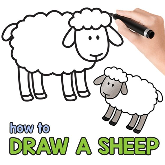 100 How To Draw Tutorials - Draw A Sheep - Eyes, Hair, Face, Lips, People, Animals, Hands - Step by Step Drawing Tutorial for Beginners - Free Easy Lessons