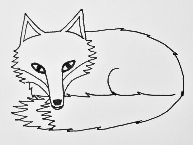 100 How To Draw Tutorials - Draw A Sleepy Fox - Eyes, Hair, Face, Lips, People, Animals, Hands - Step by Step Drawing Tutorial for Beginners - Free Easy Lessons