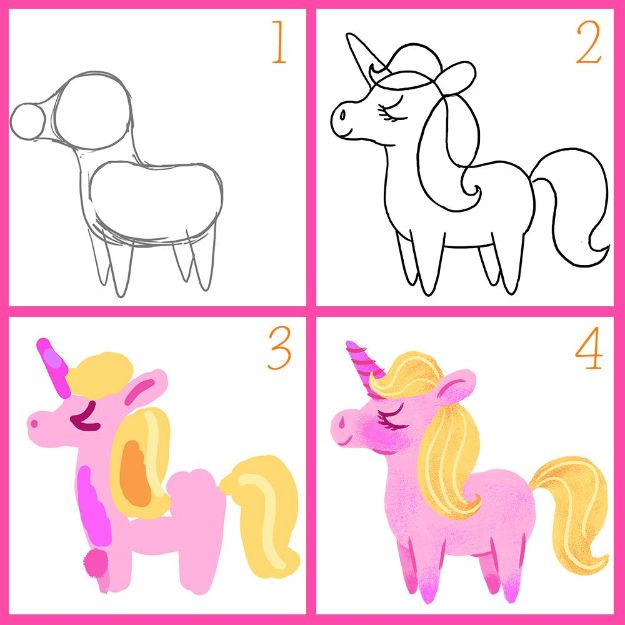 100 How To Draw Tutorials - Draw A Unicorn - Eyes, Hair, Face, Lips, People, Animals, Hands - Step by Step Drawing Tutorial for Beginners - Free Easy Lessons